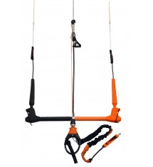 Ocean Rodeo Control Kiteboard Bar - Black/Orange, 52 cm